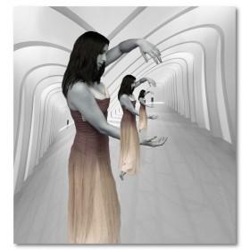 Αφίσα (μαύρο, λευκό, άσπρο, κορίτσι)